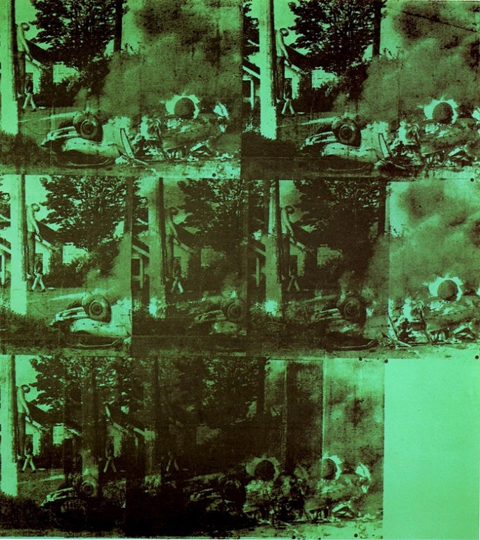 Andy Warhol Green Car Crash Burning I 1963