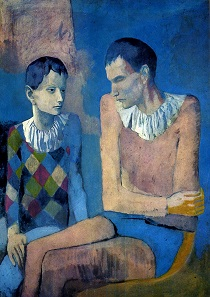 Pablo Picasso - Acrobat and Young Harlequin. Acrobate et jeune arlequin 1905