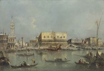 Francesco Guardi - Venice, the Bacino di San Marco, with the Piazzetta and the Doge's Palace 1765