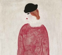 Sanyu (Chang Yu) - Femme en rouge. Woman in Red 1930s-1940s