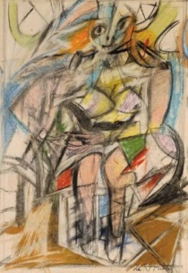 Willem de Kooning - Woman. Seated Woman I 1952