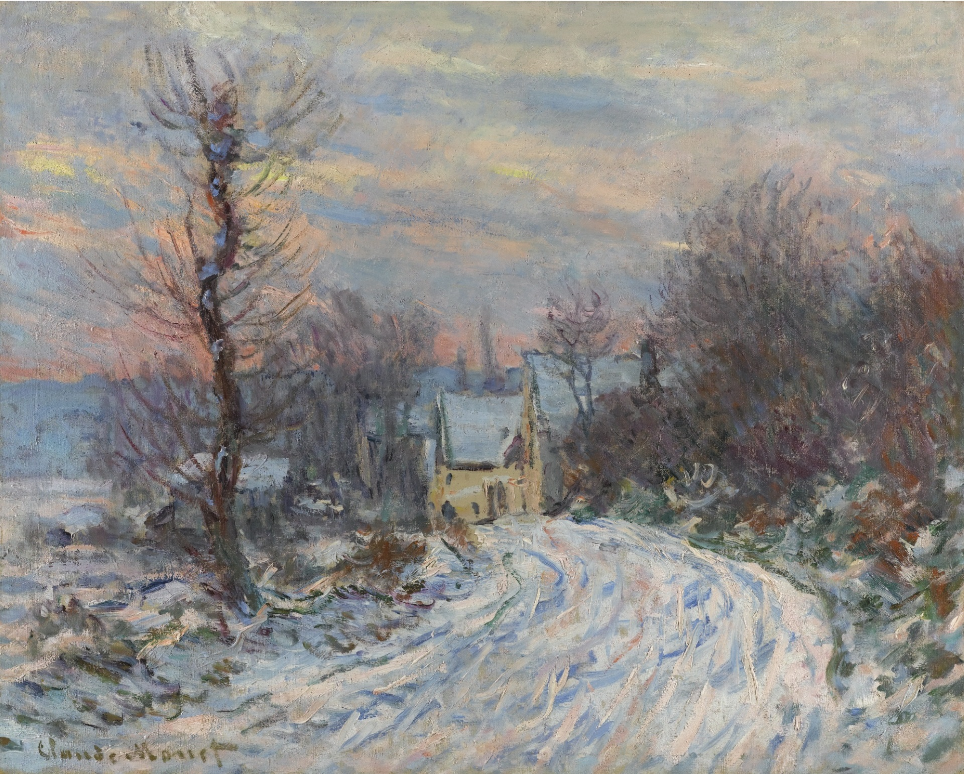 Claude Monet - L'Entrée de Giverny en hiver 1885 | USD 13.07 million |  ArtsCash.com